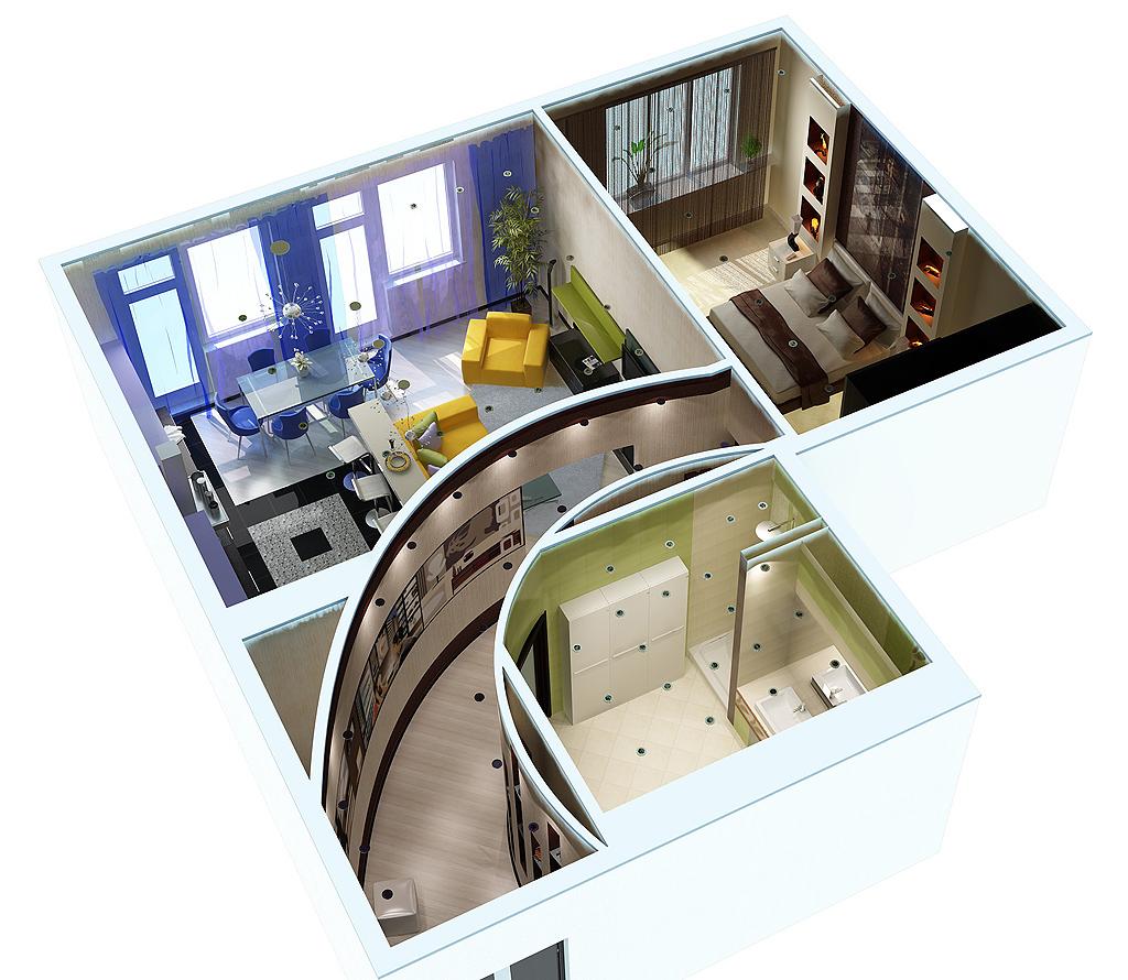 3d дизайн квартиры бесплатно